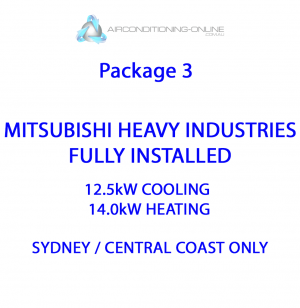 FULLY INSTALLED 12.5kw(C)/14.0kw(H) MITSUBISHI HEAVY INDUSTRIES FDUA125AVNXVF – Package 3