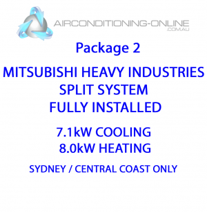 FULLY INSTALLED 7.1kw(C)/8.0kw(H) MITSUBISHI HEAVY INDUSTRIES SPLIT SYSTEM - Package 2