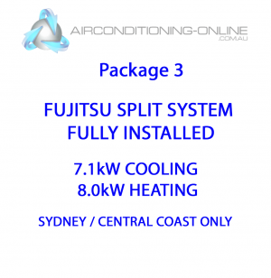 FULLY INSTALLED 7.1kw(C)/8.0kw(H) FUJITSU SPLIT SYSTEM ASTG24KMCA - Package 3