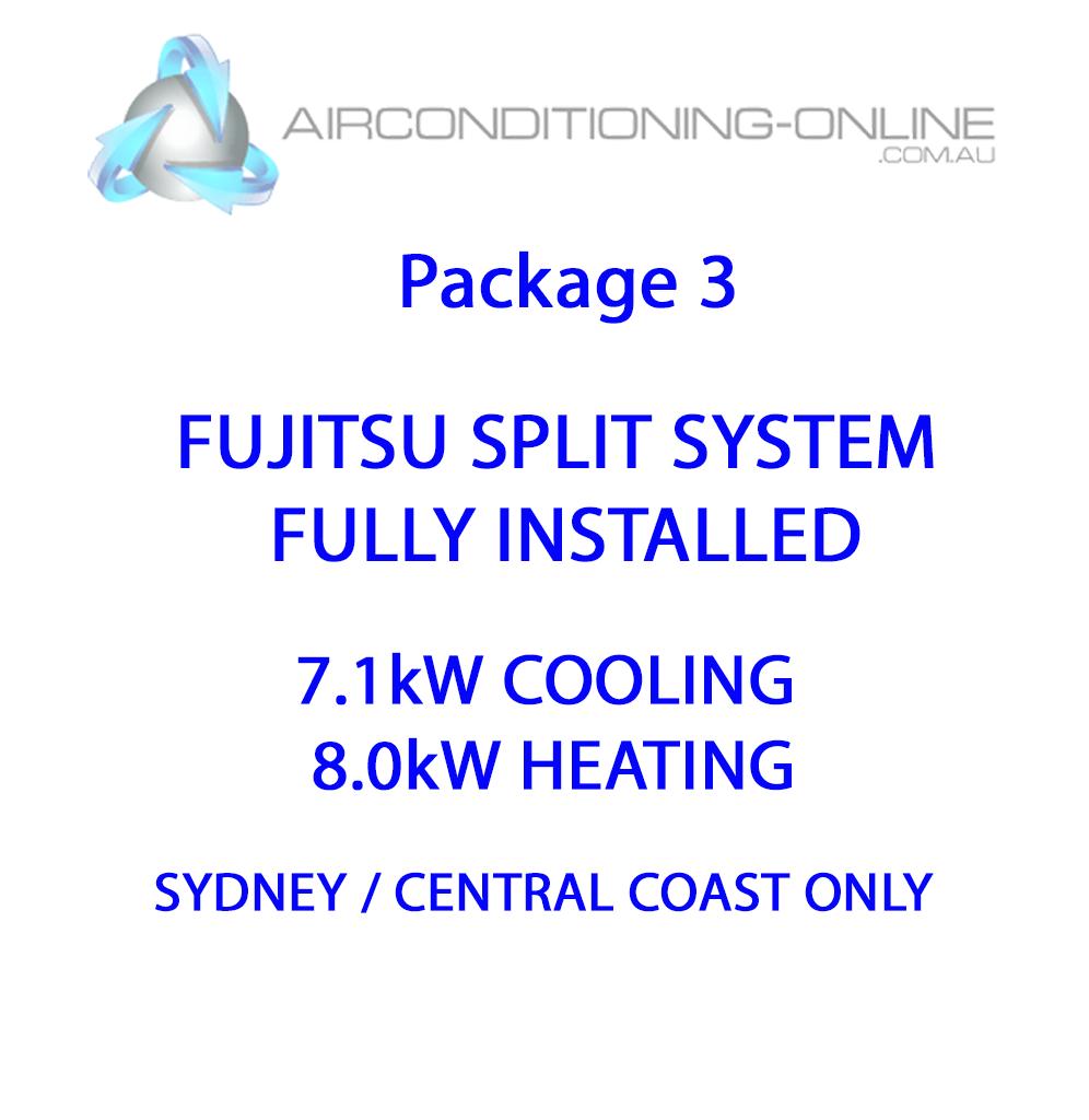 FULLY INSTALLED 7.1kw(C)/8.0kw(H) FUJITSU SPLIT SYSTEM ASTG24KMCA - Package 3