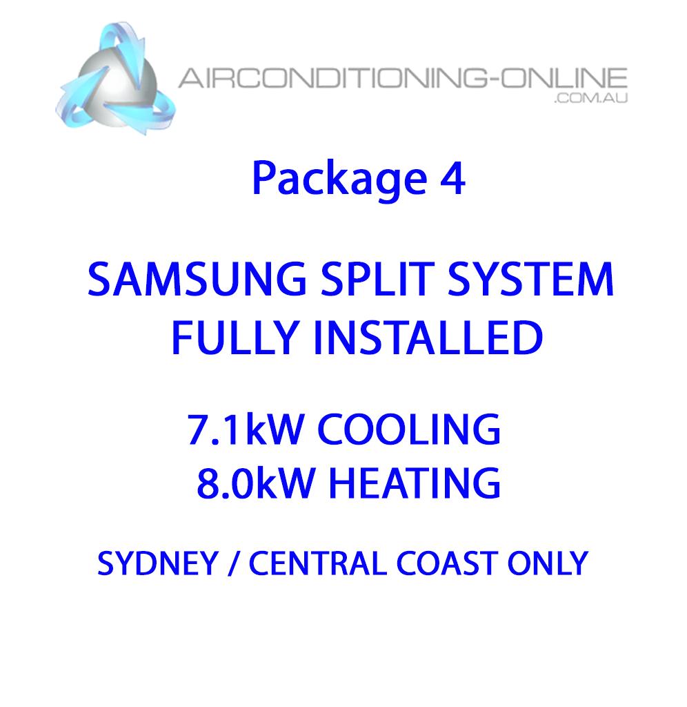 FULLY INSTALLED- 7.1kw(C)/8.0kw(H) SAMSUNG SPLIT SYSTEM F-AC071HCAFK01 - Package 4