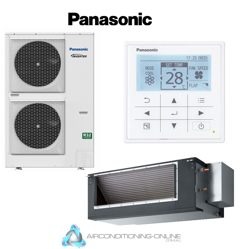 Panasonic Premium Ducted Inverter 22.40kw S-224PE3R5B U-224PZH2R8 3 Phase R32