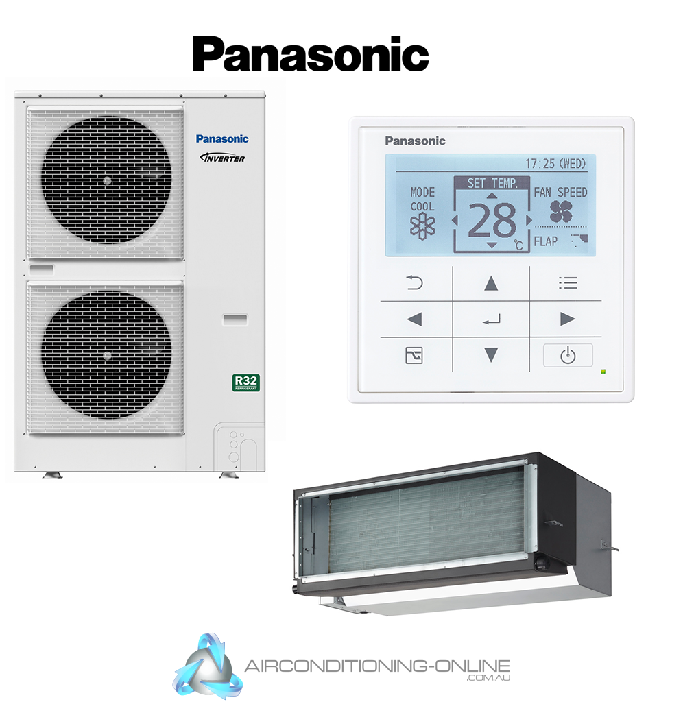 Panasonic Premium Ducted Inverter S-160PE1R5B U-160PZH2R8 3 Phase R32