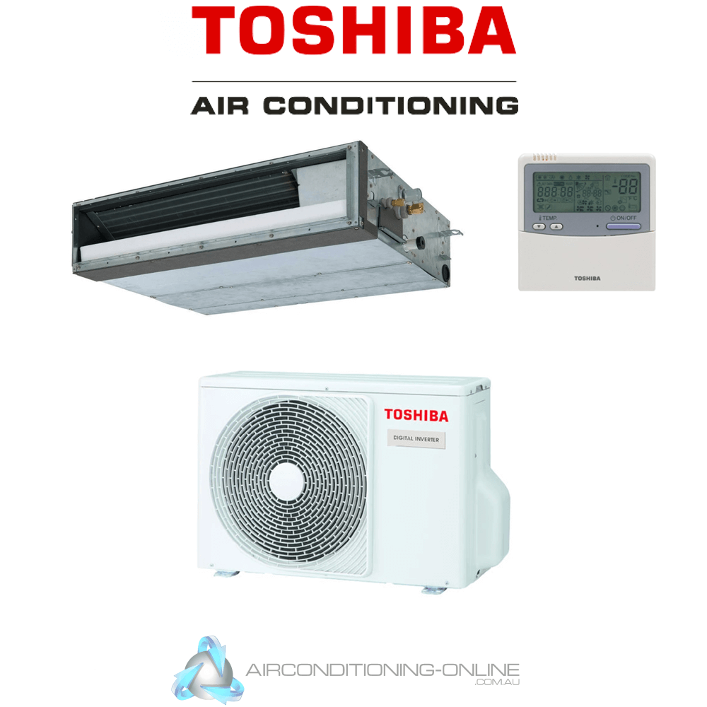 TOSHIBA RAV-GM1401BTP-A RAV-GM1401ATP-A 12.5kW Digital Inverter Mid-Static Ducted System R32 Single Phase