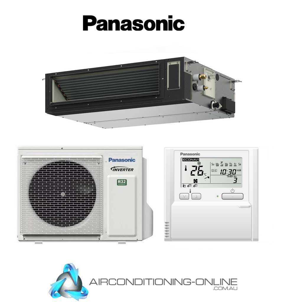 Panasonic 9.5kW Slim-line Compact S-1014PF3E/U-100PZ3R5 Ducted System | Single Phase