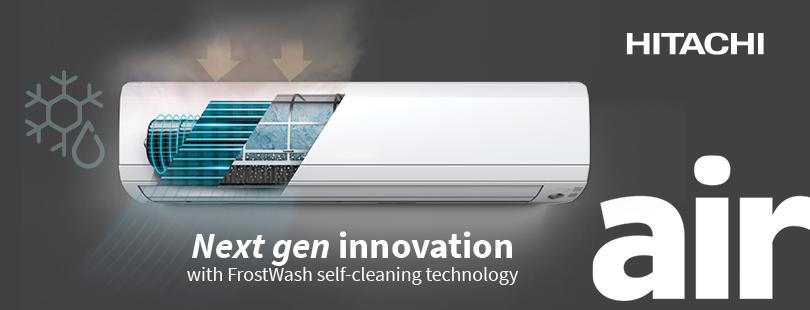 Frostwash airconditioning online hitachi