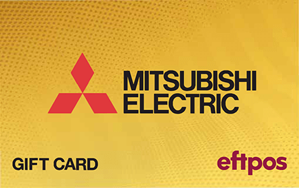 2021 winter promotion Mitsubishi electric gift card