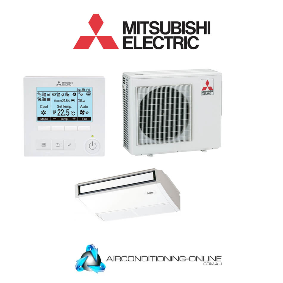 MITSUBISHI ELECTRIC PCA-M100KA / PUZ-M100VKA-A.TH 10kW Under Ceiling System | Single Phase Backlit Controller