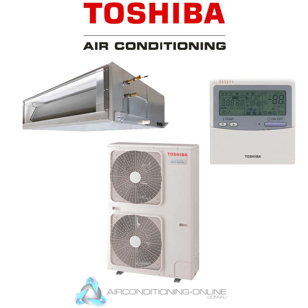 TOSHIBA RAV-GM1401DTP-A RAV-GP1401AT8P-A 12.5kW Super Digital Inverter High Static Ducted System R32 Three Phase